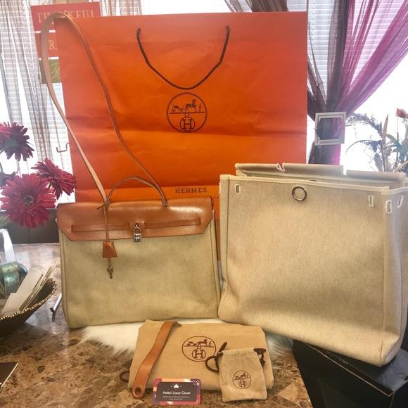Hermès herbag toile vintage authentic 2 Bags 724d12d31d25f